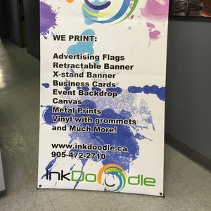 "X-Stand Banner 33""x66"" With Print & Carrying Case"