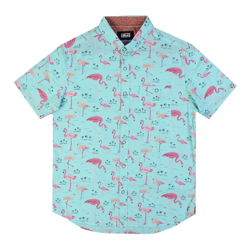 Alton Flamingo Love Button Up Shirt