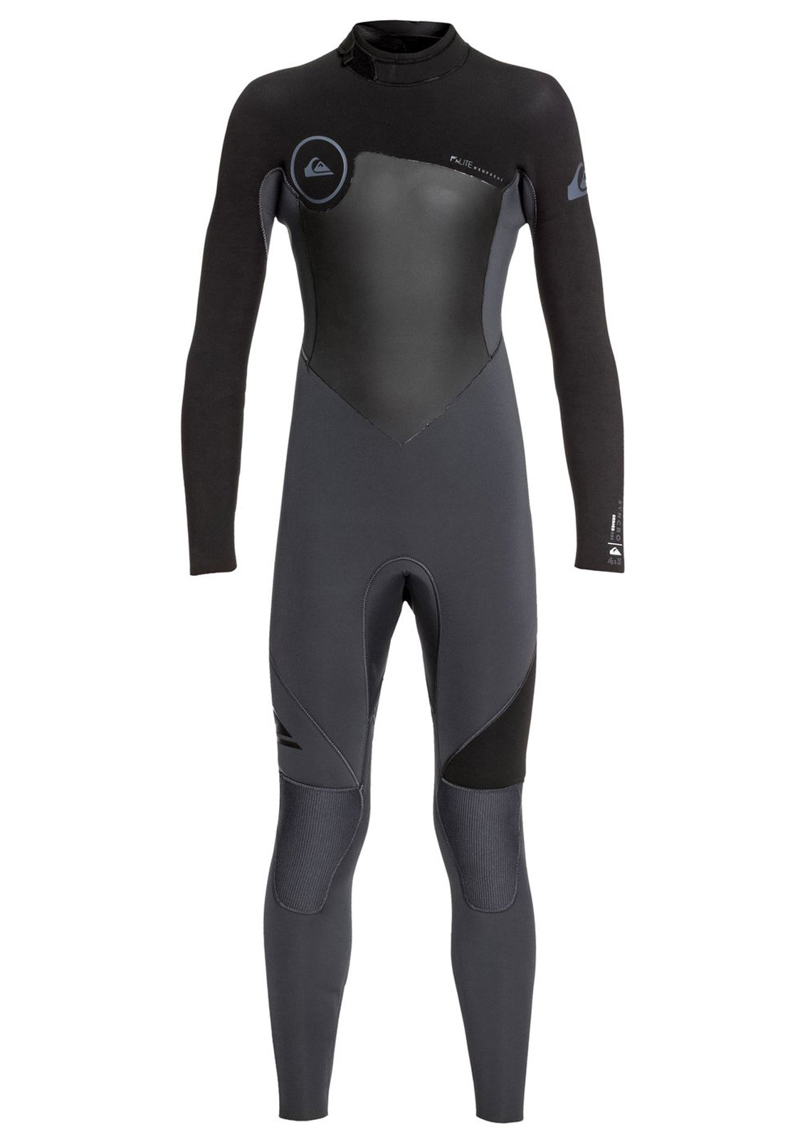 Quiksilver Boys 4/3 Syncro Series Back Zip GBS Wetsuit
