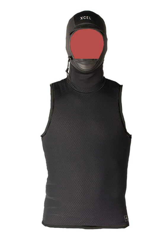 Xcel Celliant Jacquard Vest with a 2mm Glued And Blind-Stitched Hood