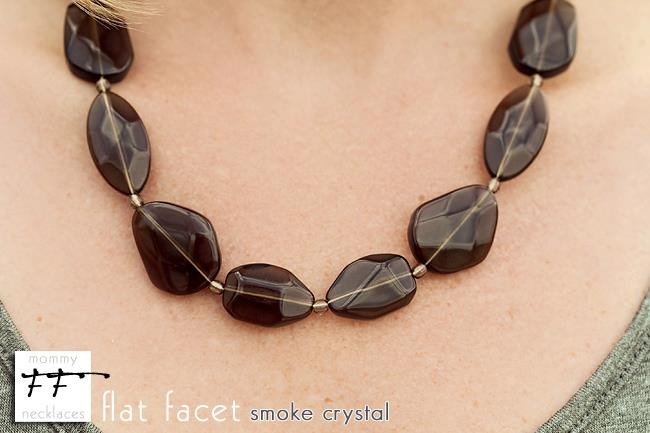 Flat Facet Strand - Smoke Crystal
