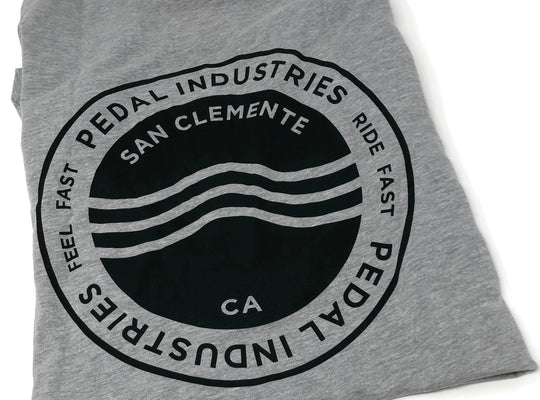 STAMP LOGO PEDALindustries - BLACK, BLUE, RED, GRAY