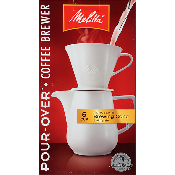 6 Cup Porcelain Pour-Over™ Coffeemaker & Carafe Set (36oz)