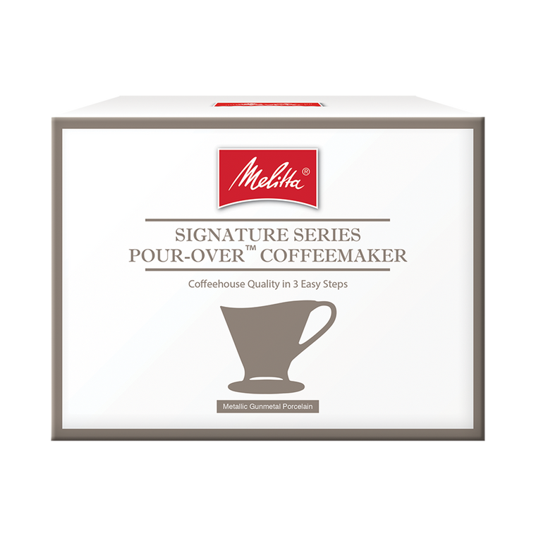 Signature Series Hybrid porcelain Pour-Over™ Coffeemaker  - Gun Metal, 1-Cup