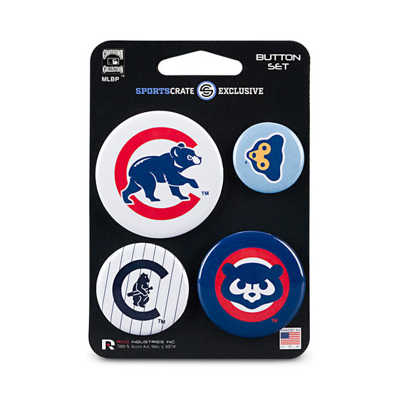 Chicago Cubs Retro Button 4 Pack