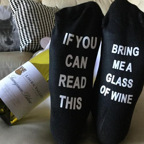 Bring Me Wine Socks TIGC The Inappropriate Gift Co