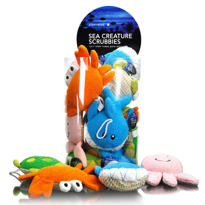 Star and Rose Sea Creatures Scrubbies