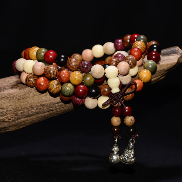 Wooden Prayer Beads Bracelet