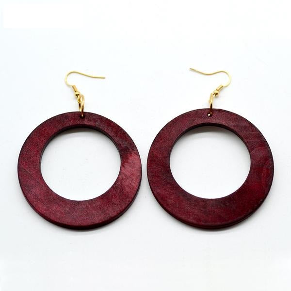 Fashionable African Wood Earrings