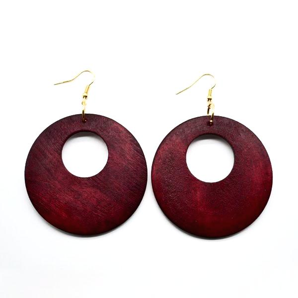 Trendy African Hollow  Wood Earrings