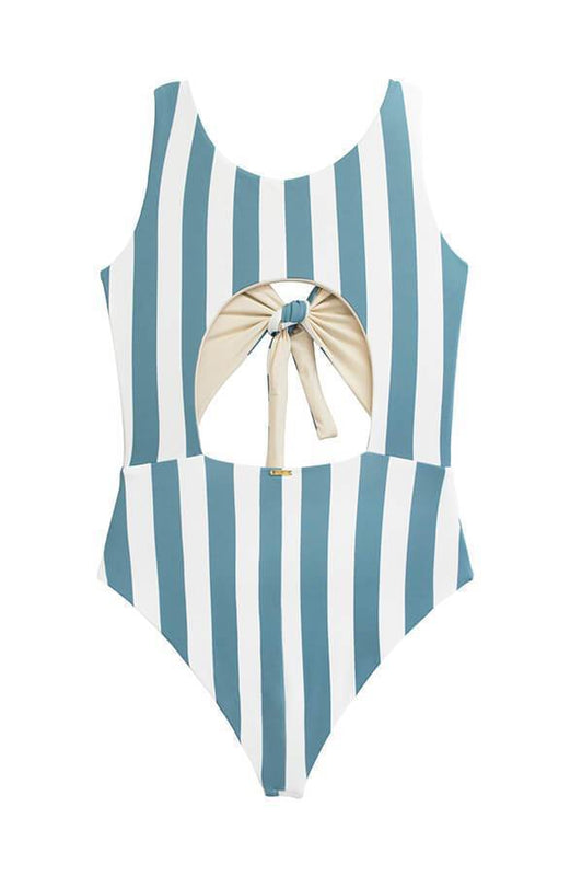MAYLANA Paige Ocean's Stripes One Piece