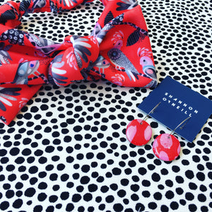 Flock Yeah Red Bow Headband