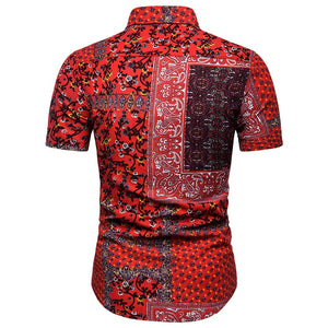 Red-Bandana Short Sleeve