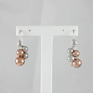 Sterling Silver & Rose Gold Plated Bunch Bolas Earring