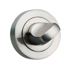 Atlantic Handles Round Rose WC Turn and Release in a Satin Nickel Finish-Door Store Rotherham