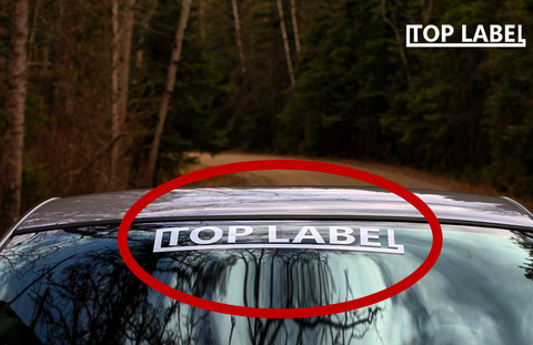 TopLabel Windshield Banner (FREE)