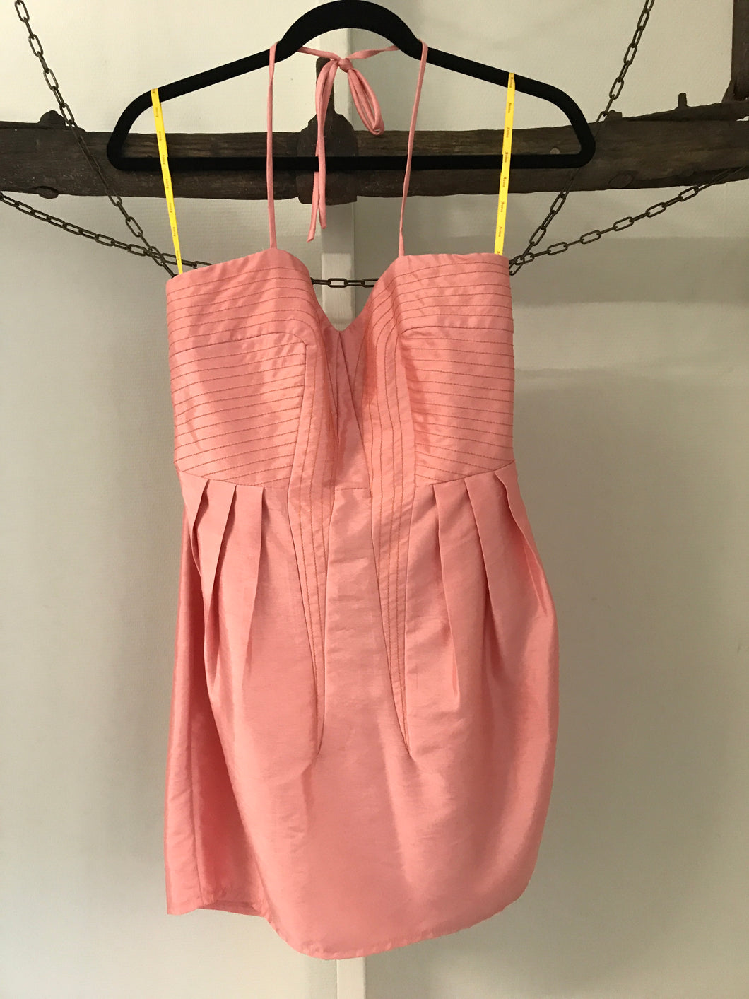 Aviva pink haulter cocktail dress Size M (estimated 12)