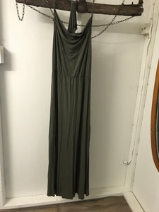 Wayne Cooper Khaki Maxi Dress Size 14