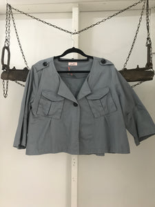 Duchess khaki short flared jacket size 12