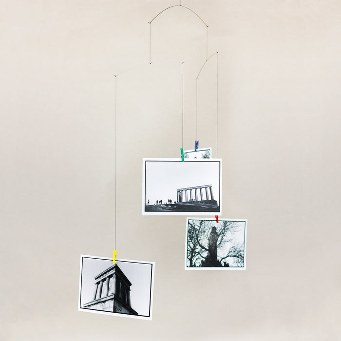 Calton Hill Edinburgh Scotland Collective Matter x Panel Monuments Hanging Mobile Alan Dimmick with Flensted Mobiles Postcards Denmark
