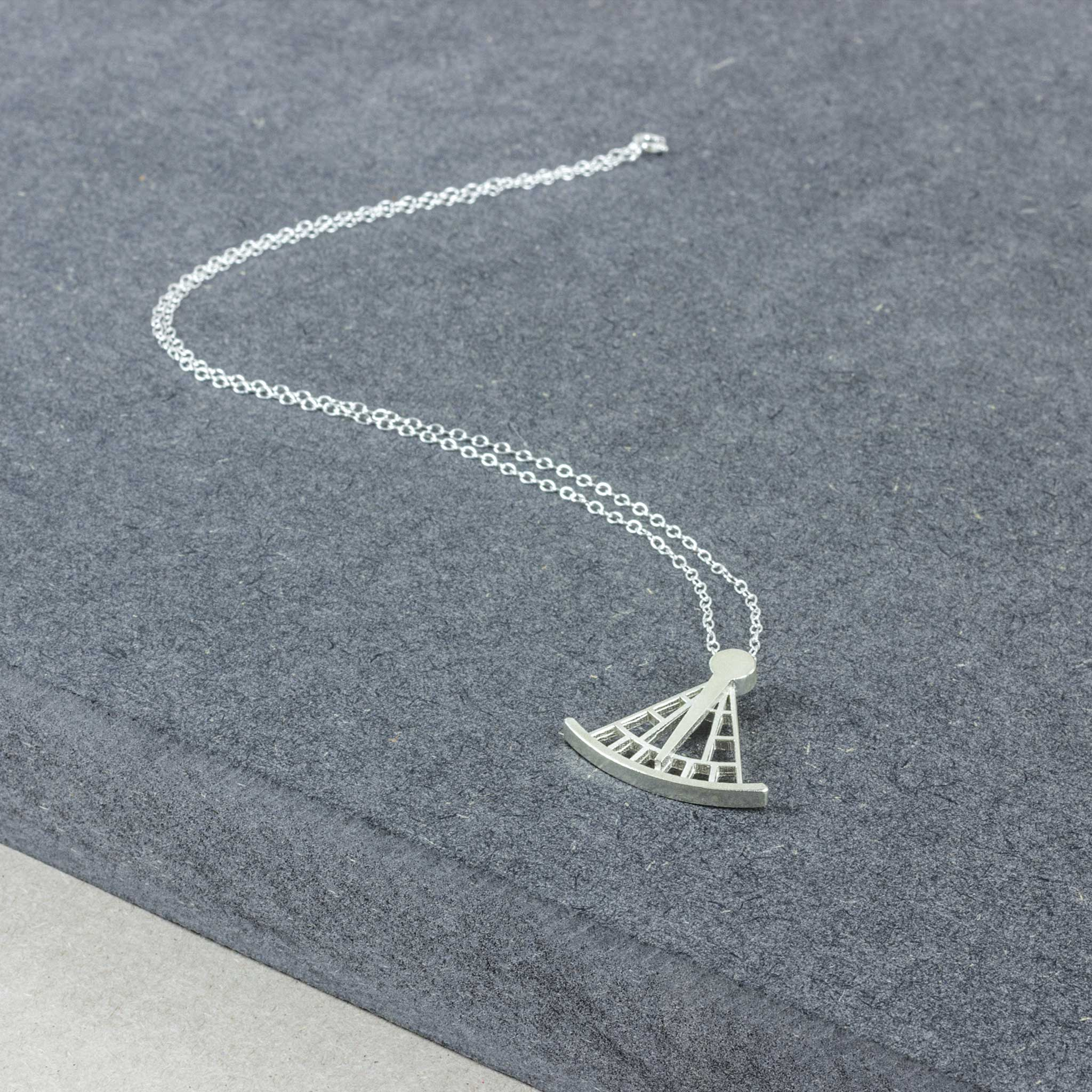 Calton Hill Edinburgh Scotland City Observatory Collective Matter x Panel Sextant Necklace Rachel Adams with Elizabeth Campbell Sterling Silver
