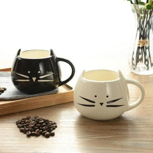 mug chat kawaii noir blanc