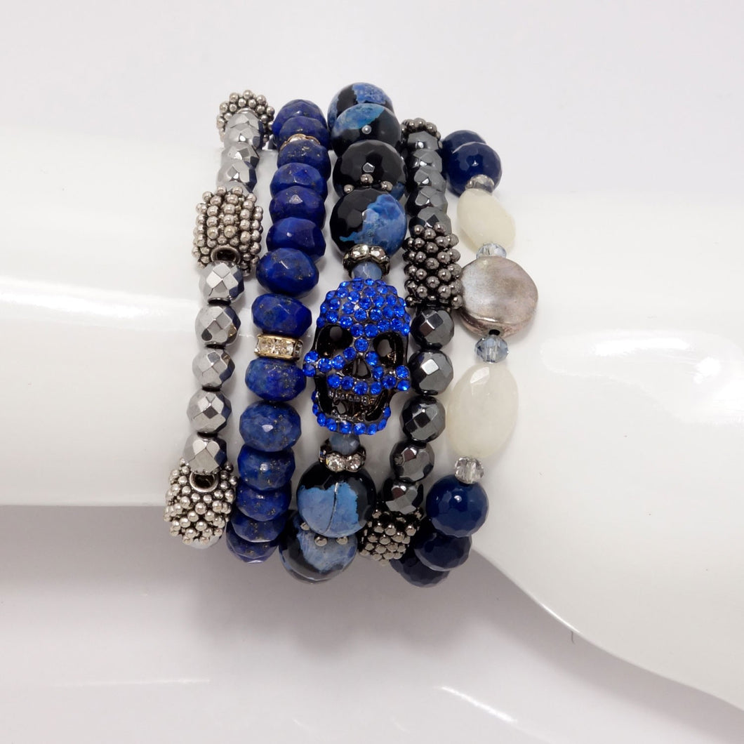 Hues of Blues Bracelets