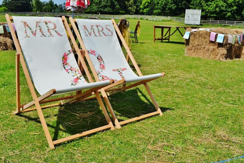 Custom printed deckchair