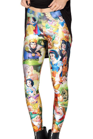 Snow White 3D Printed Leggings