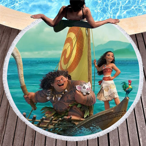 Moana Round Beach Towel In 2 Designs