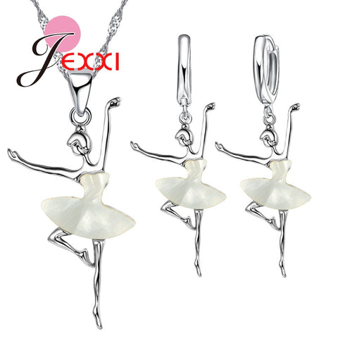 925 Sterling Silver Ballerina Jewelry Set - Amazing Steals N Deals