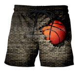 Basketball Breaking A Wall Shorts - Order Larger Size