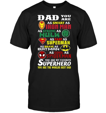 Dad Your Are A Superhero Graphic Print T-Shirt