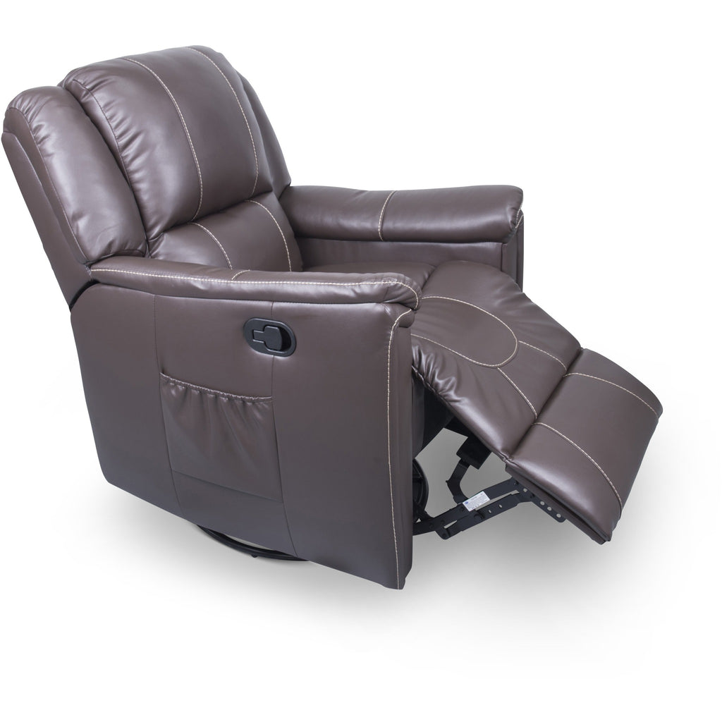 Lippert 377710 Swivel Glider/Recliner in Majestic Chocolate
