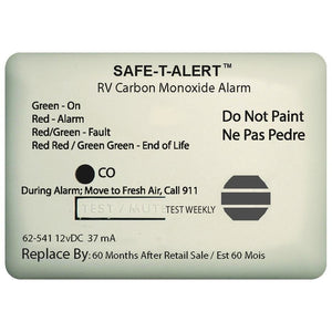 Safe-T-Alert 65-541-WT 65 Series Surface Mount Carbon Monoxide Alarm