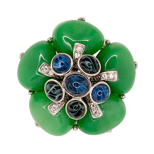 Jade & Flawed Montana Flower Pin