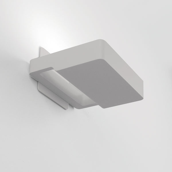 Square wall CFL 18W grey