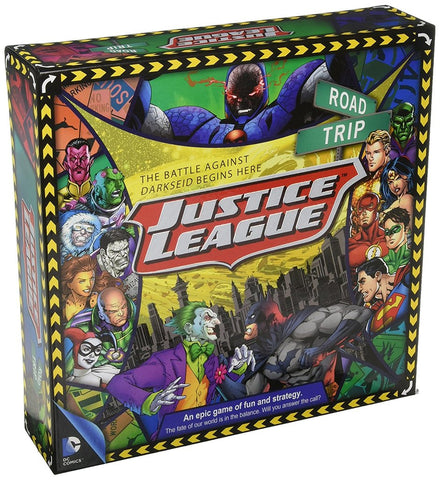 Justice League: Road Trip Game Box