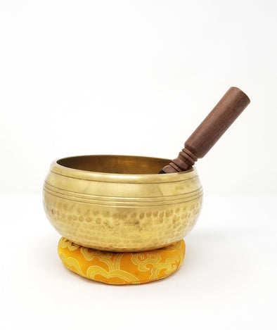 "Tibetan Singing Bowl 5.5"" with Eight Auspicious Symbols"