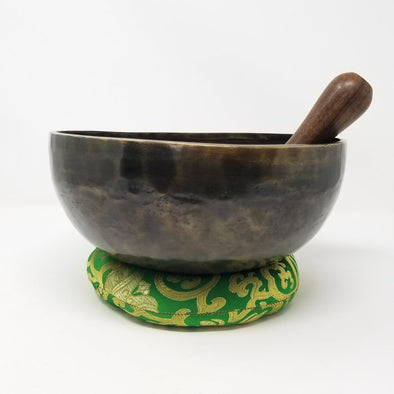 OLD HAND BEATEN TIBETAN SINGING BOWL 7""