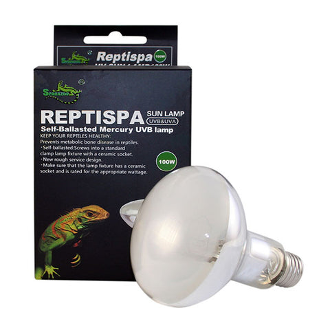 Reptispa UV Sun Lamp 100 Watts - UVB & UVA Self-Ballasted #21240-CZS