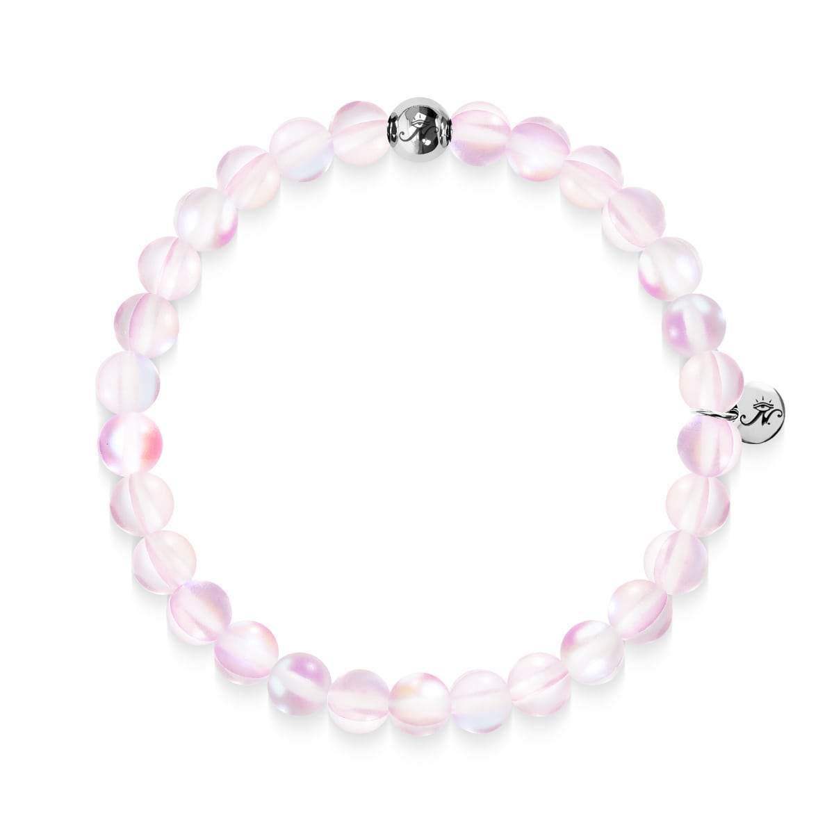 Pink | .925 Sterling Silver | Mermaid Glass Bead Bracelet