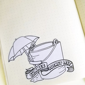 SUMMER BUCKET LIST  Planner Stickers |  Hand Drawn