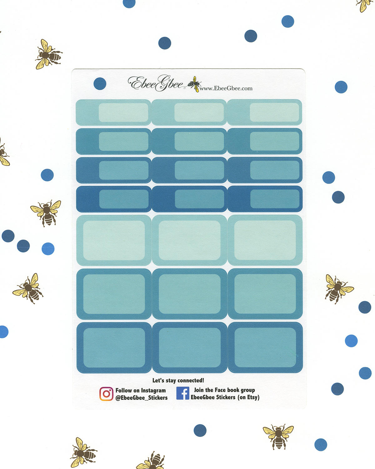 TEAL COLORFUL BOXES Planner Stickers | BeeColorful