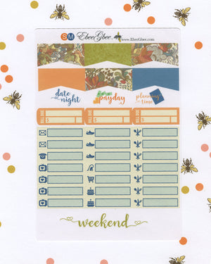 FOREST DELUXE Weekly Planner Sticker Set | Sunset Midnight