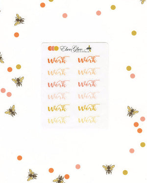 WORK Planner Stickers |  BeeColorful