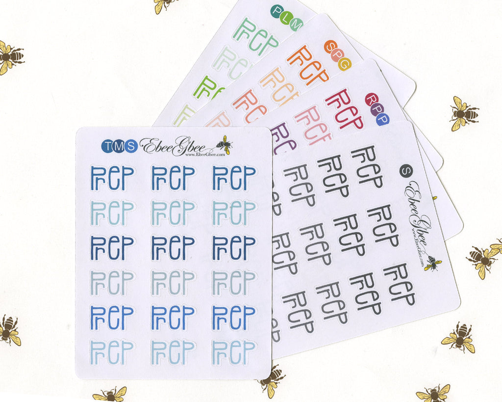 PREP TYPOGRAPHY Planner Stickers |  BeeColorful