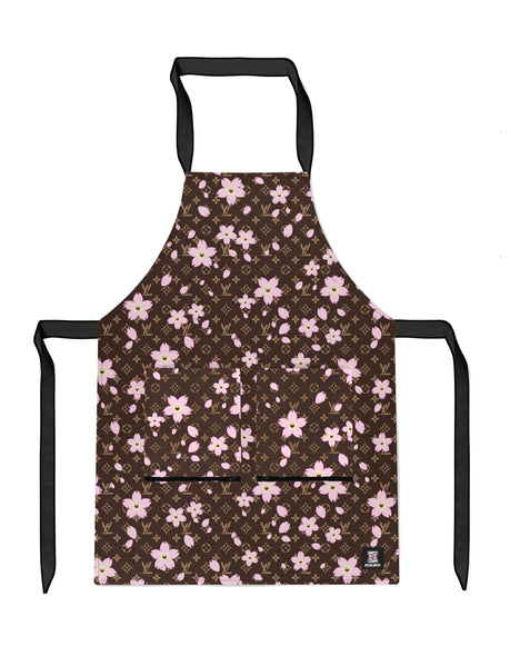 Monogram Kami Flower - Brown APRON Headliners.co - Headliners.co