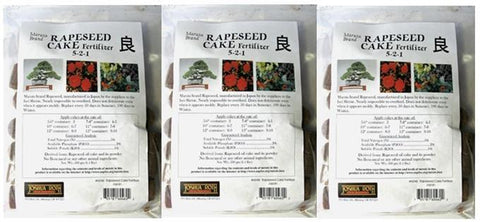 3 Bags of Maruta Bonsai Fertilizer Cakes 5-2-1