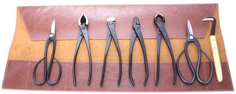 Roshi Set of 7 High Carbon Steel Bonsai Tools